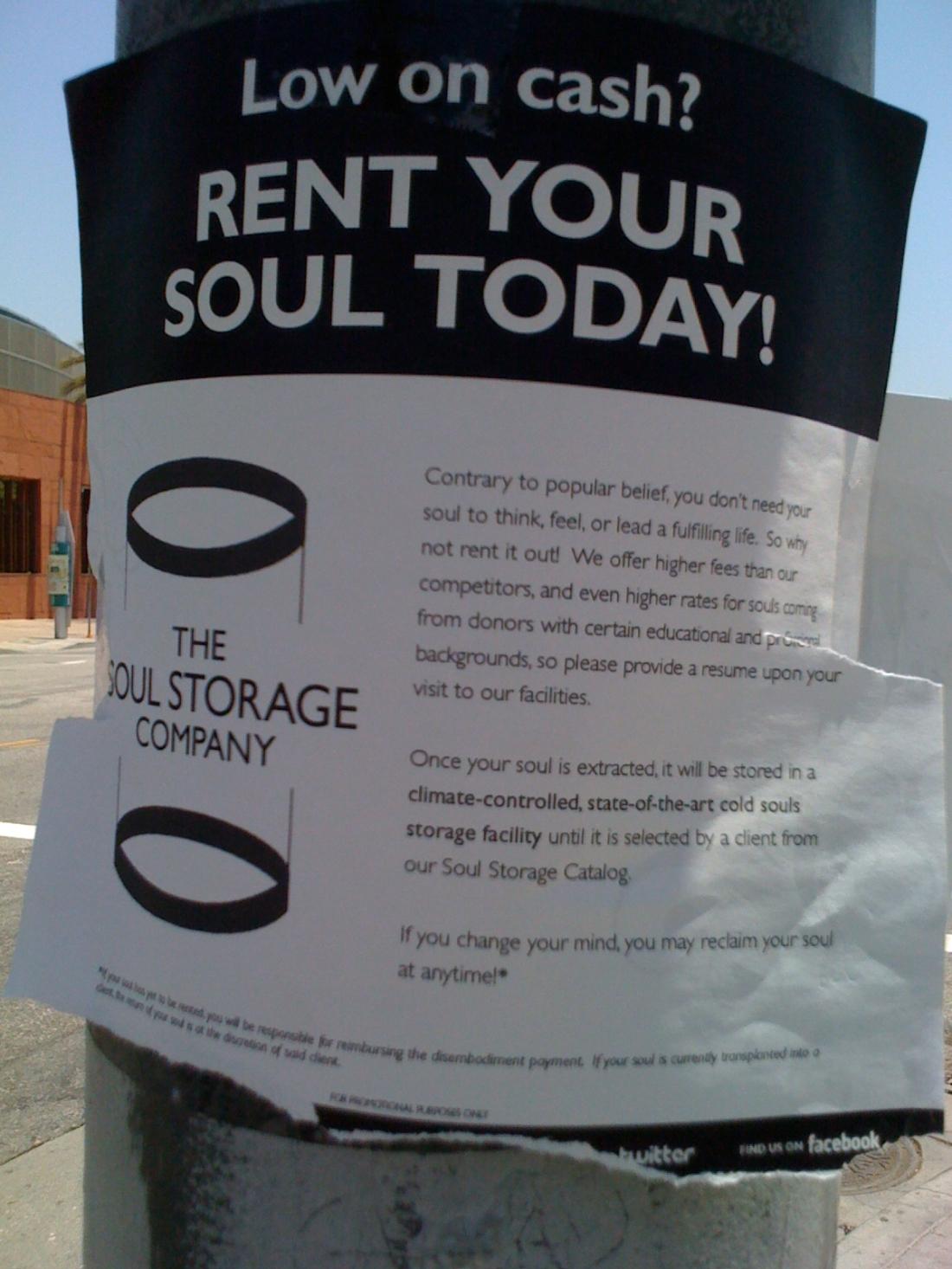 Soul for cash